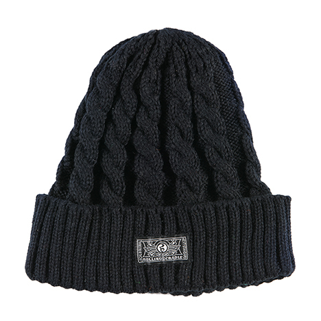 【ROLLING CRADLE | ロリクレ】RC KNIT CAP / Black