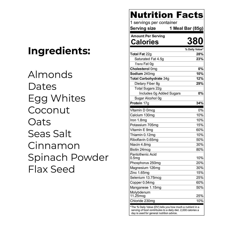 SANS オールナチュラルプロテインバー Coconut Almond Butter 6袋セット