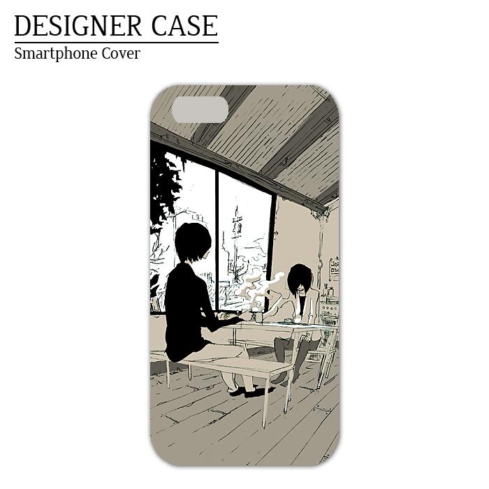 iPhone6 soft case [kissa]  Illustrator:Kawano