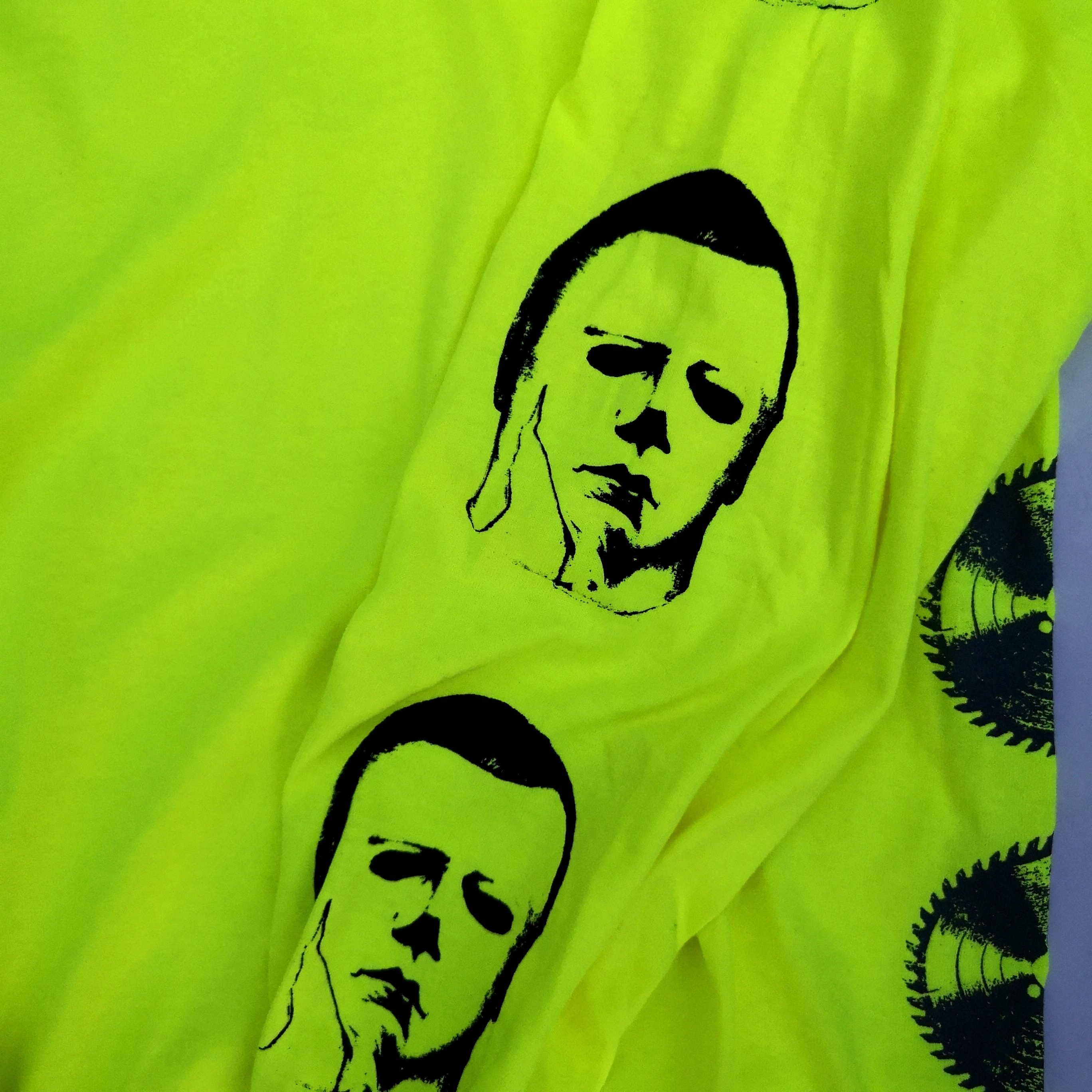 ||||| LEATHER AND BOOGEY LONG TEE NEON YELLOW XL