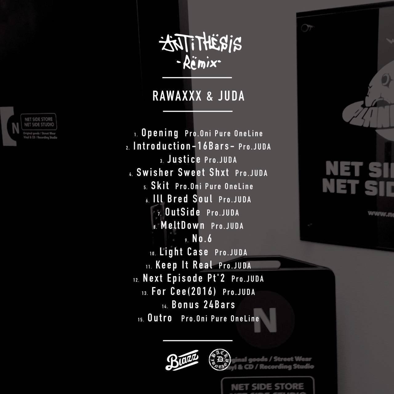 【CD】ANTITHESIS -Remix- / RAWAXXX & Juda