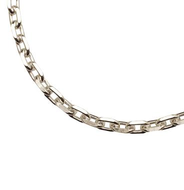シルバー925 40㎝(鎖骨の下くらいの長さ)小豆チェーン
