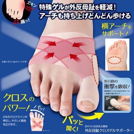 外反母趾クロスゲルサポーター  右足用 OR 左足用