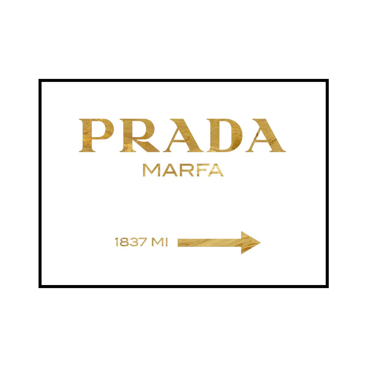 """PRADA MARFA 1837 MI"" Gold marble - POSTER [SD-000563] A4サイズ ポスター単品"