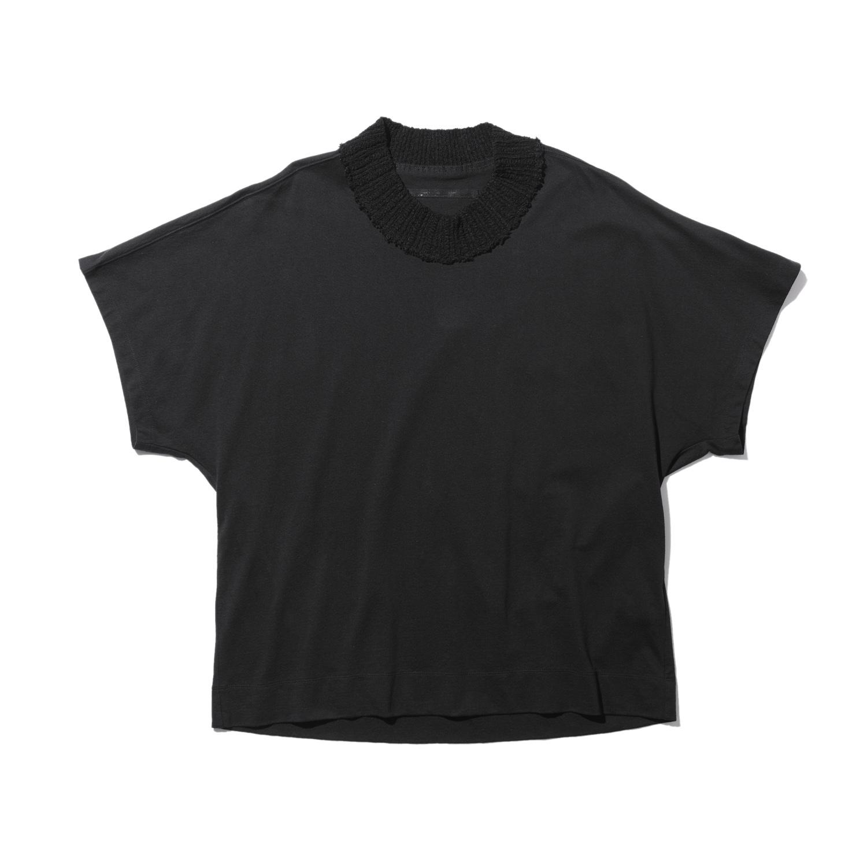 737CUM13-BLACK / ニットネック Tシャツ