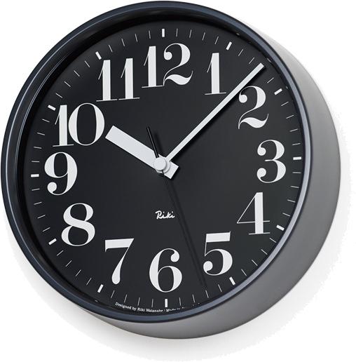 タカタレムノス RIKI STEEL CLOCK 電波時計 ブラック WR08-25 BK