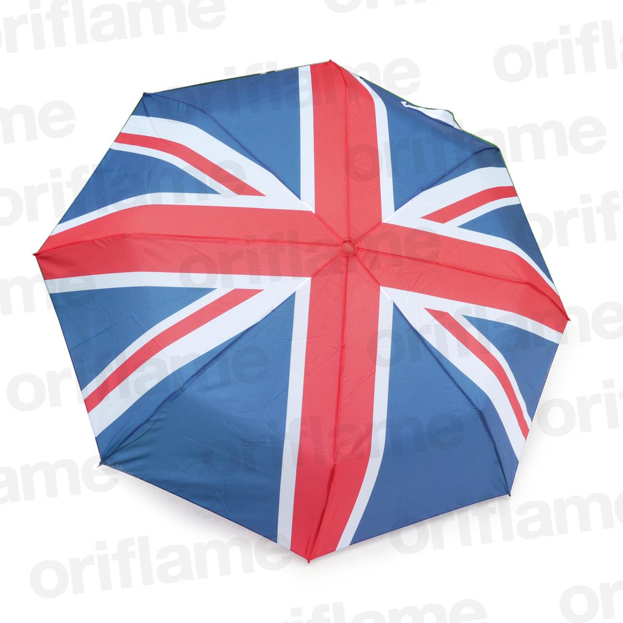 傘・折りたたみ・ユニオンジャック柄・プラスチックグリップ