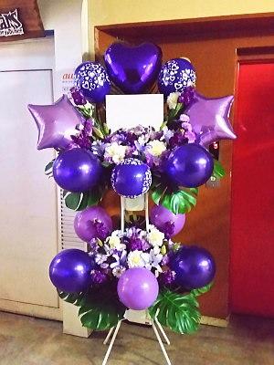 bst044 バルーンスタンド 紫系2段