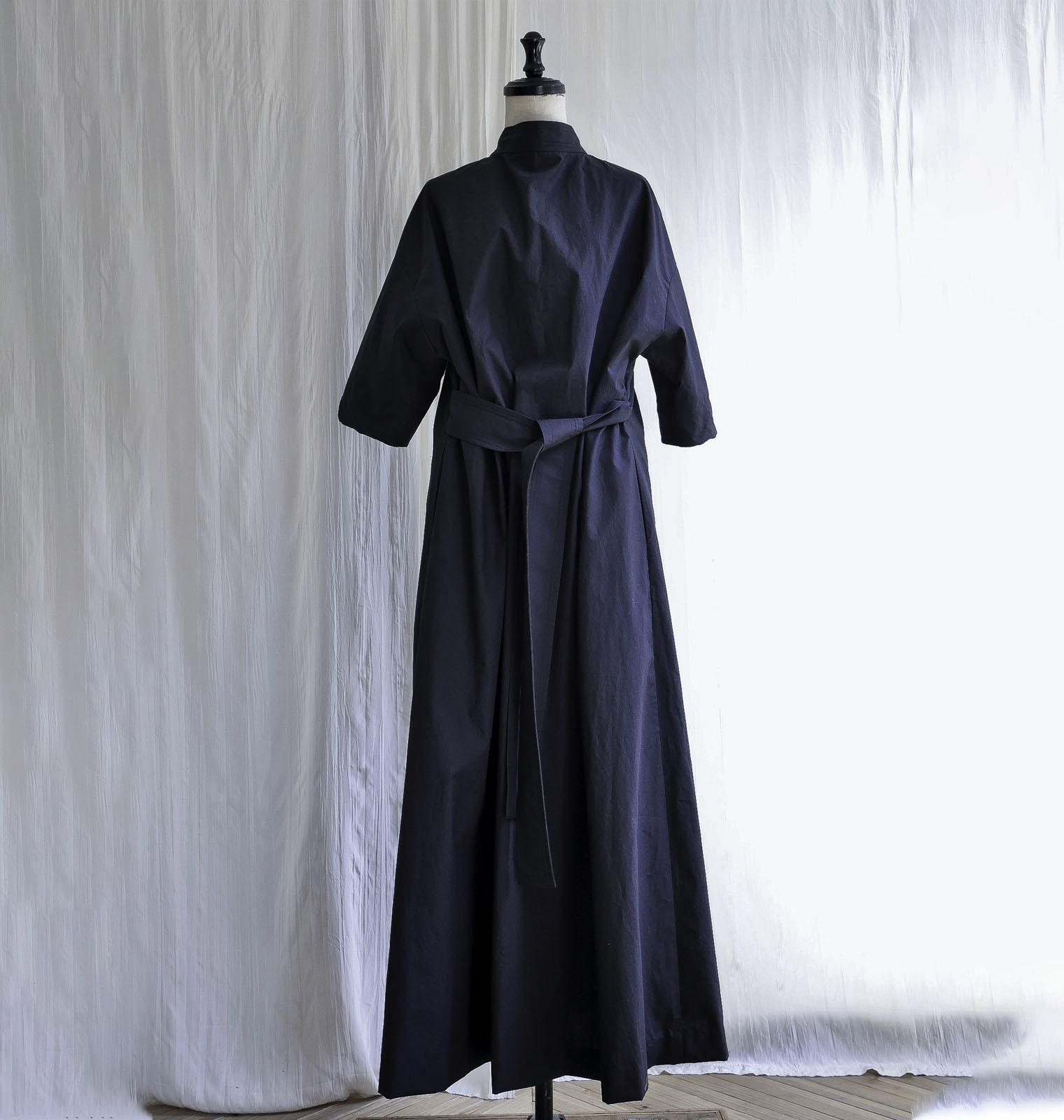 TYPEWRITER CLOTH 2WAY MAXI OP  /  BLACK
