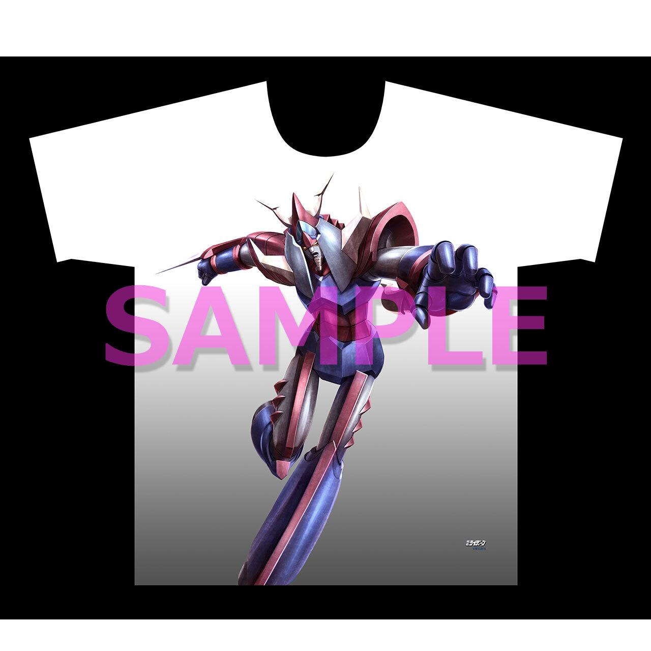 【4589839358620先】勇者ライディーン フルグラフィックTシャツ ライディーン飛ぶ XL