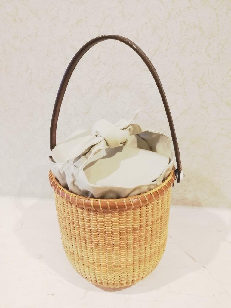 6インチroundインナーbag☆ナンタケットバスケット用