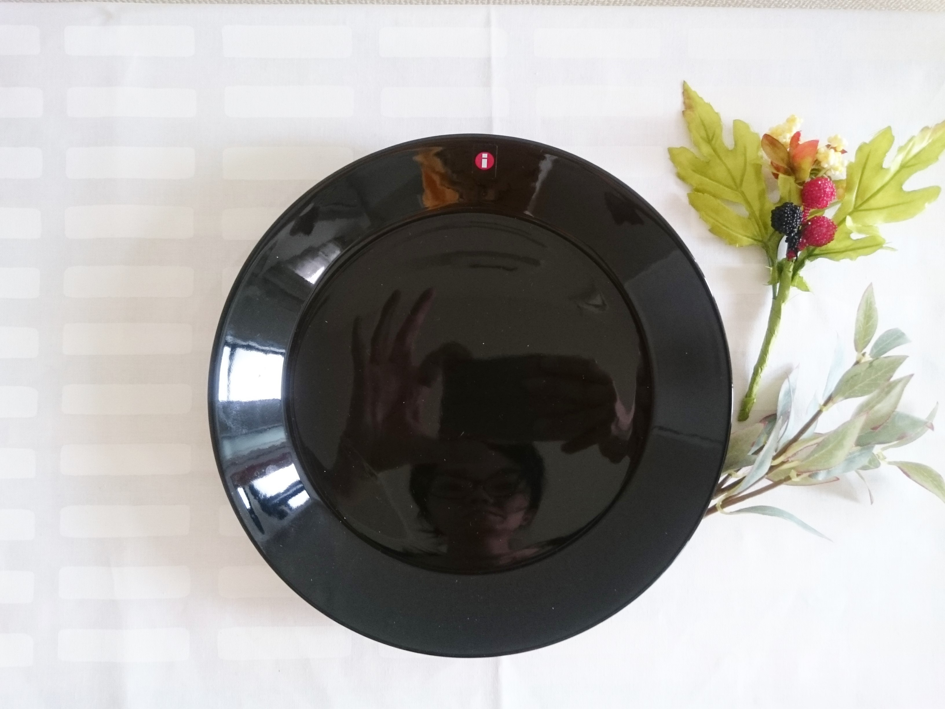 プレート / イッタラ / TEEMA ティーマ / ブラック (21cm)