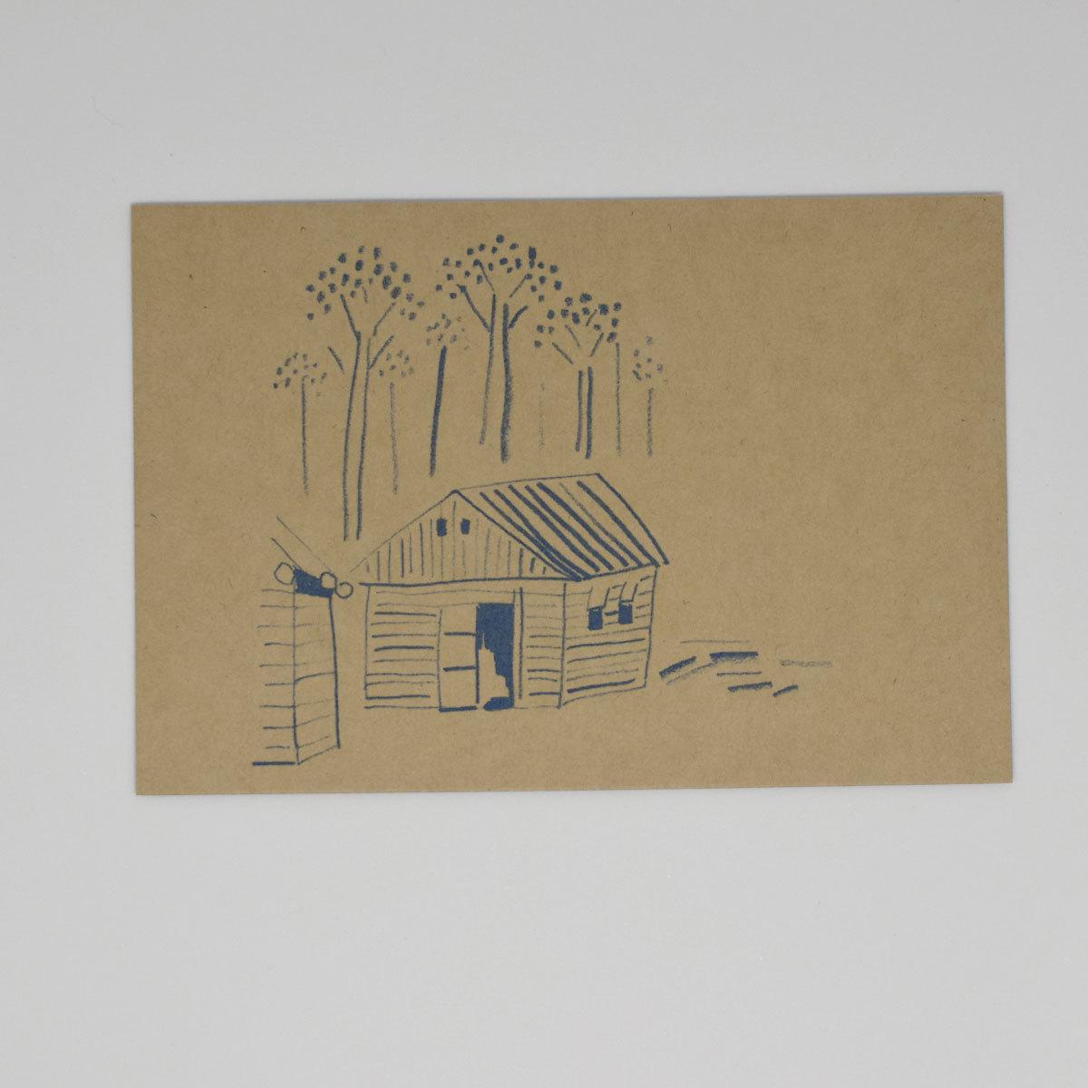 HIGASHI ALPS(ヒガシアルプス)ポストカード 山小屋