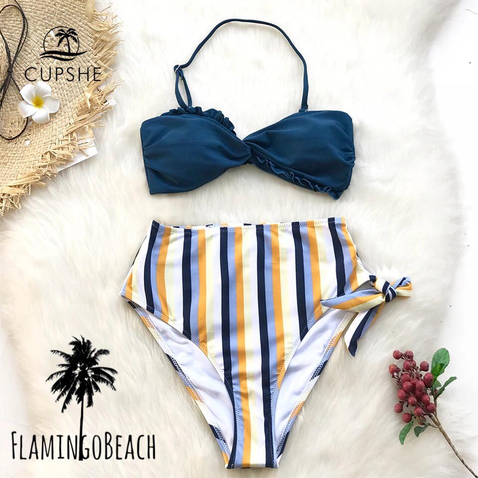 【FlamingoBeach】stripe high west bikini ビキニ