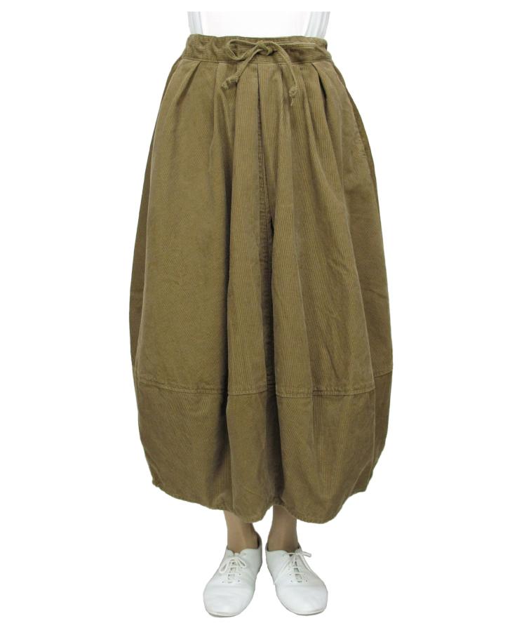 cord cocoon skirt Lot:35310 - 画像1