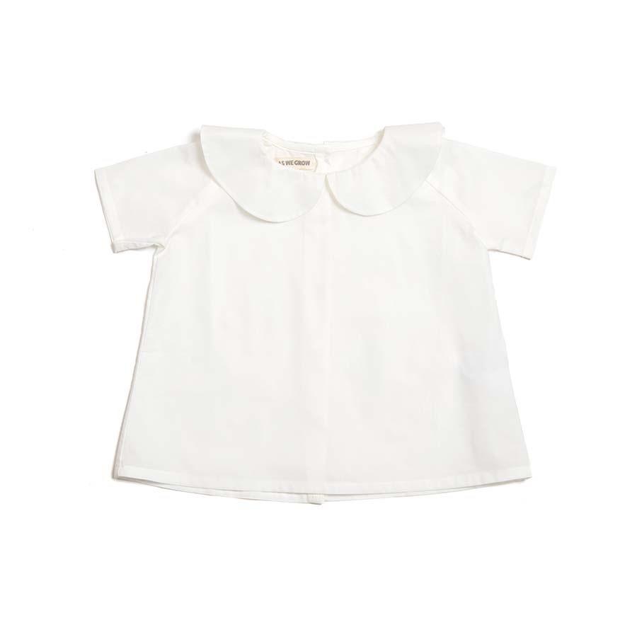 《AS WE GROW 2020SS》Peter Pan shirt short sleeve / white