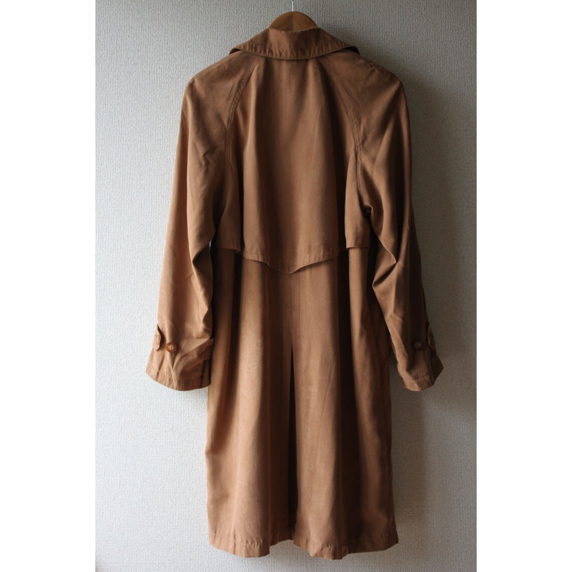 Vintage fake suede trench coat