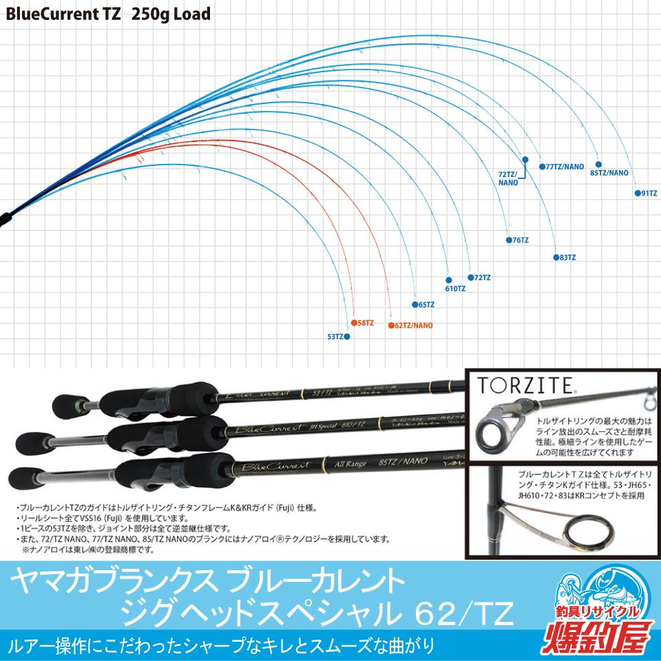 ヤマガブランクス ブルーカレント JHスペシャル 62/TZ nano