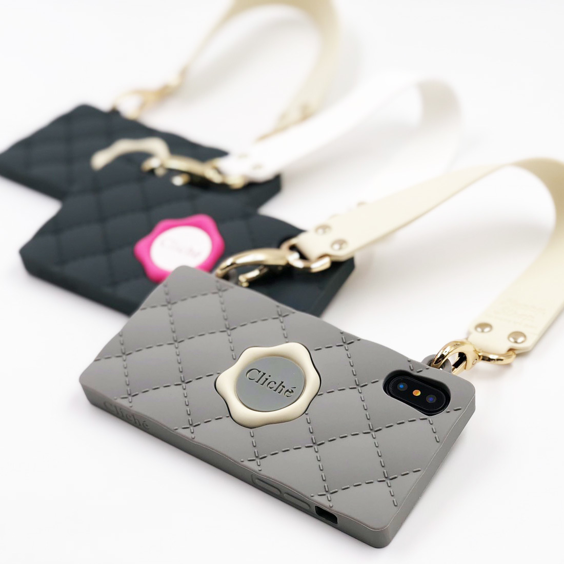 SEAL STAMPED HANDBAG for iPhoneXS/iPhoneX