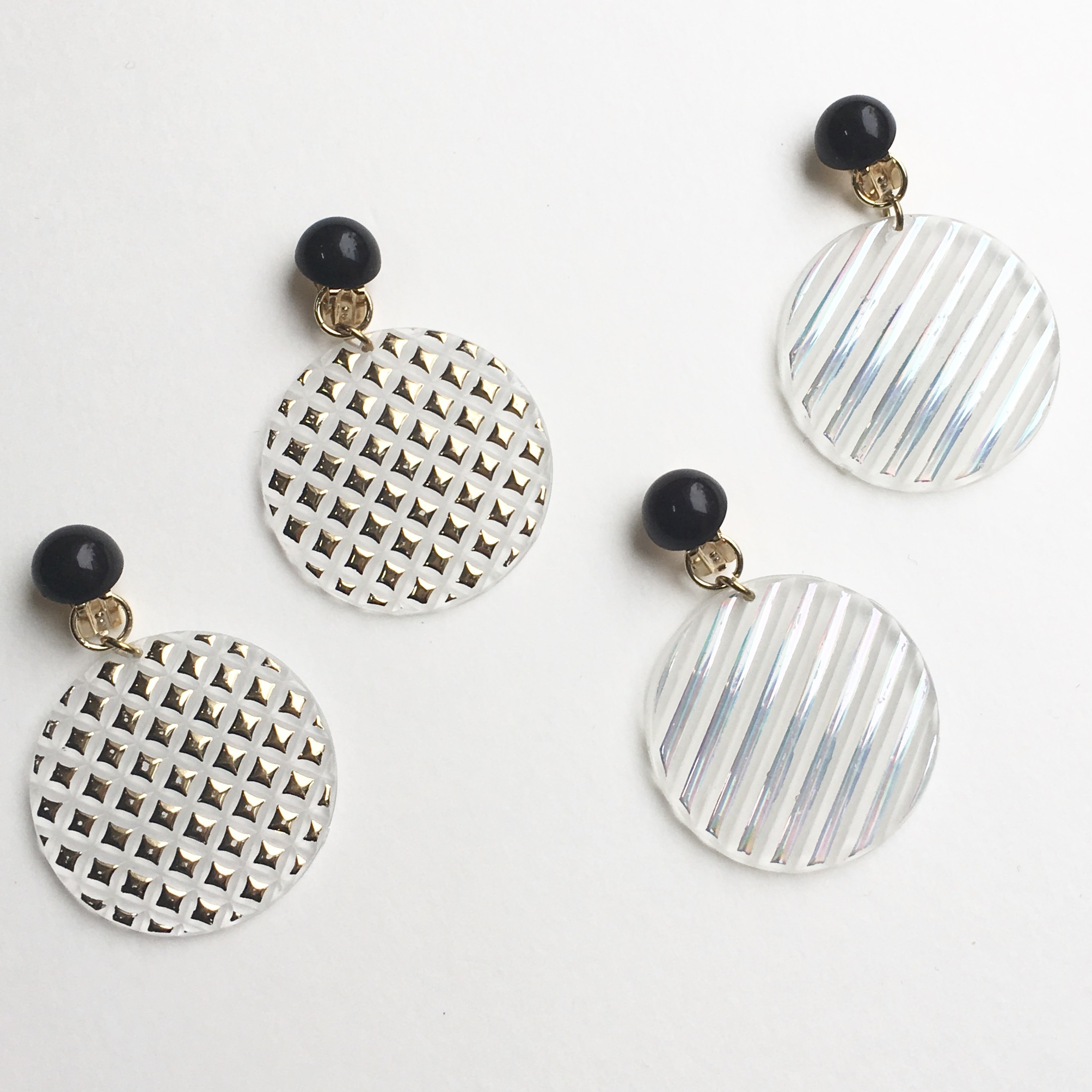Shiny plate earrings No.205