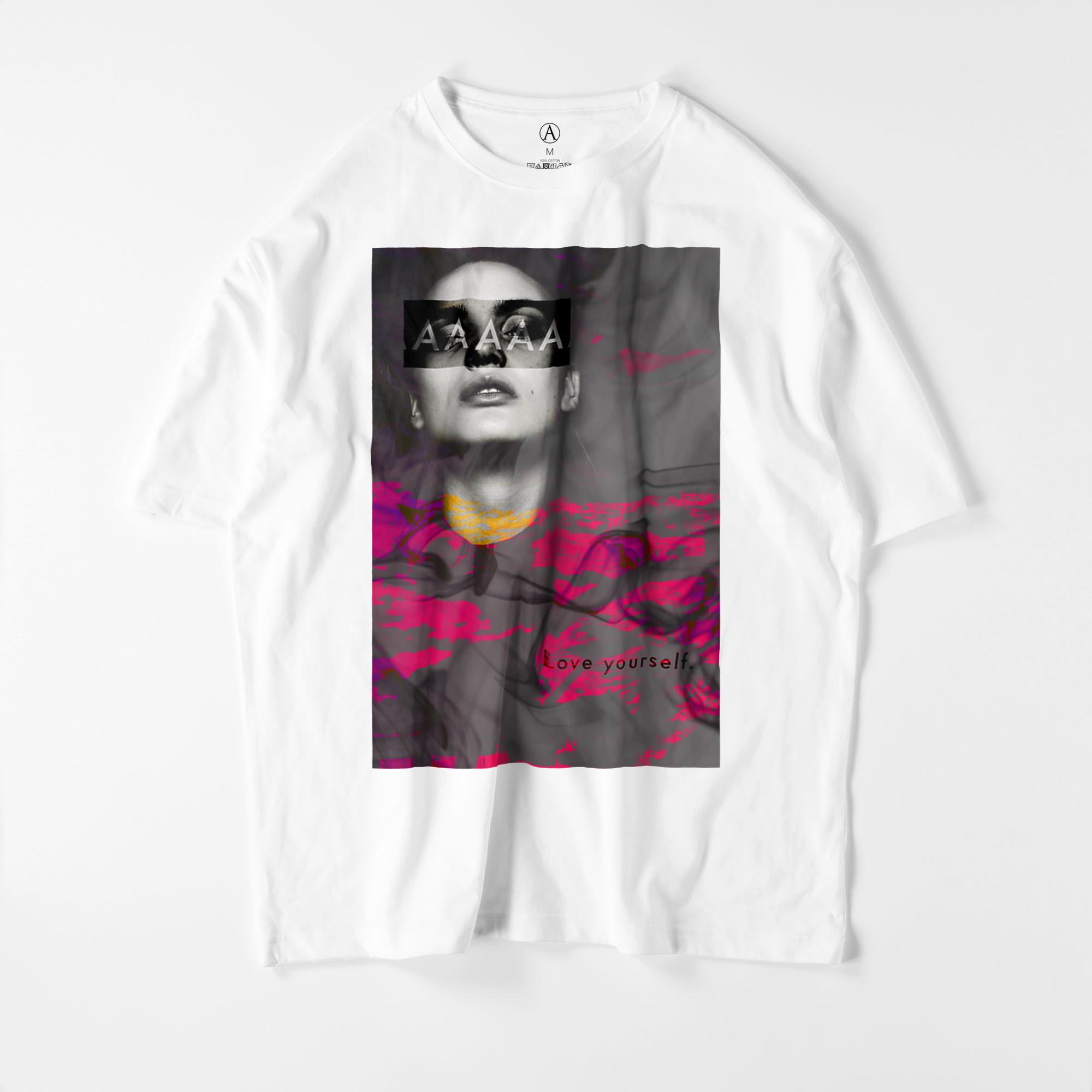 Love Yourself ビッグシルエットTシャツ(ホワイト・ブラック)/ Mens