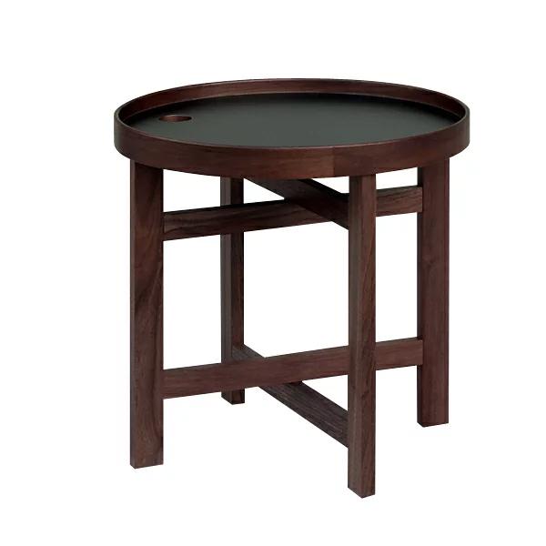 ユマ トレイテーブル ウォールナット×ブラック