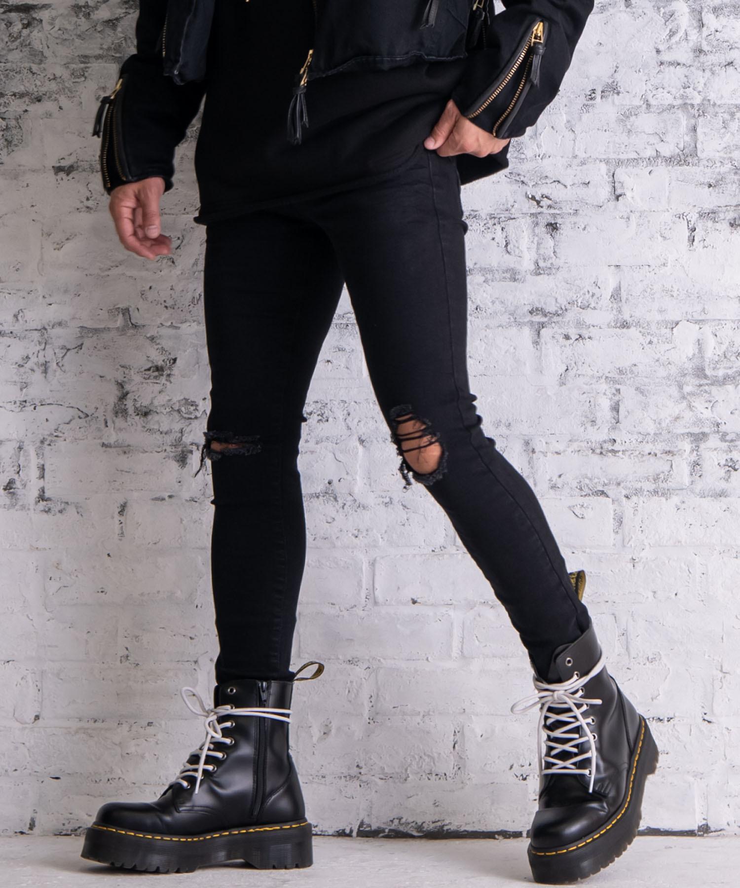 5th ANNIVERSARY VINTAGE BLACK SKINNY PANTS[REP110]