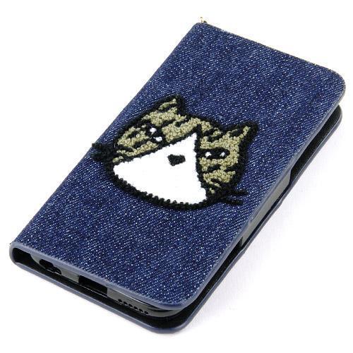 【取り寄せ】ねこどっと iPhone6手帳型ケース デニム