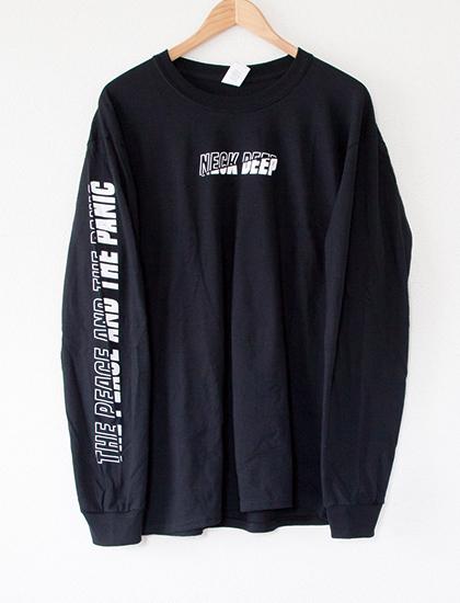 【NECK DEEP】Outline Fill Long Sleeve (Black)