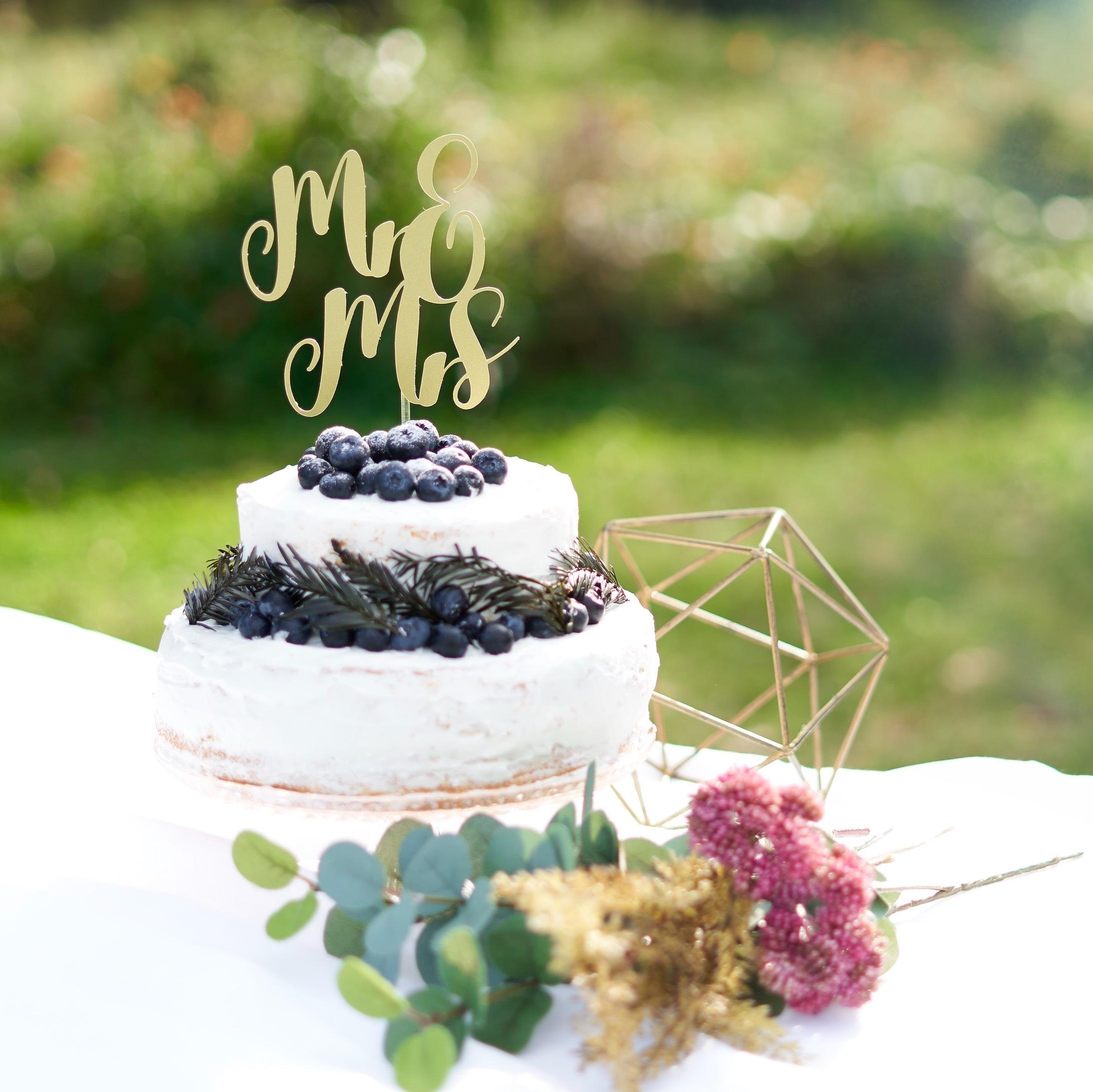 Mr & Mrs ケーキトッパー 結婚式 ウエディング 飾り付け フォトプロップス