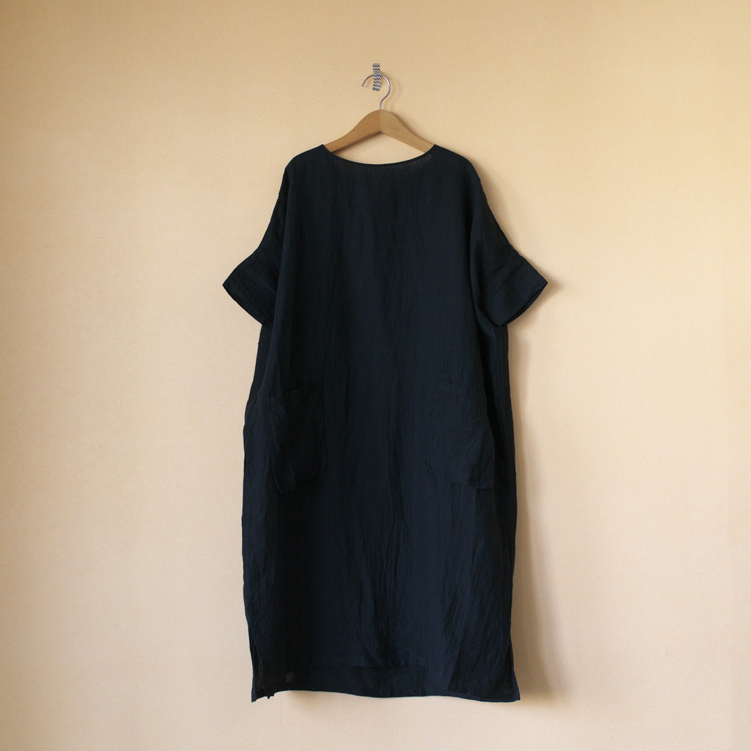 (g) グラム g155 linen pocket one piece リネンポケットワンピース
