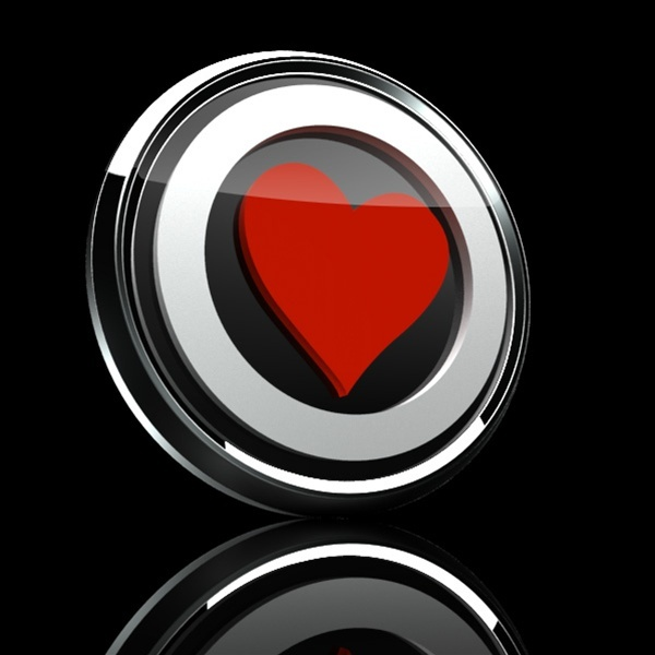 ゴーバッジ(3D)(LC0022 - 3D HEART PREMIUM 04) - 画像2
