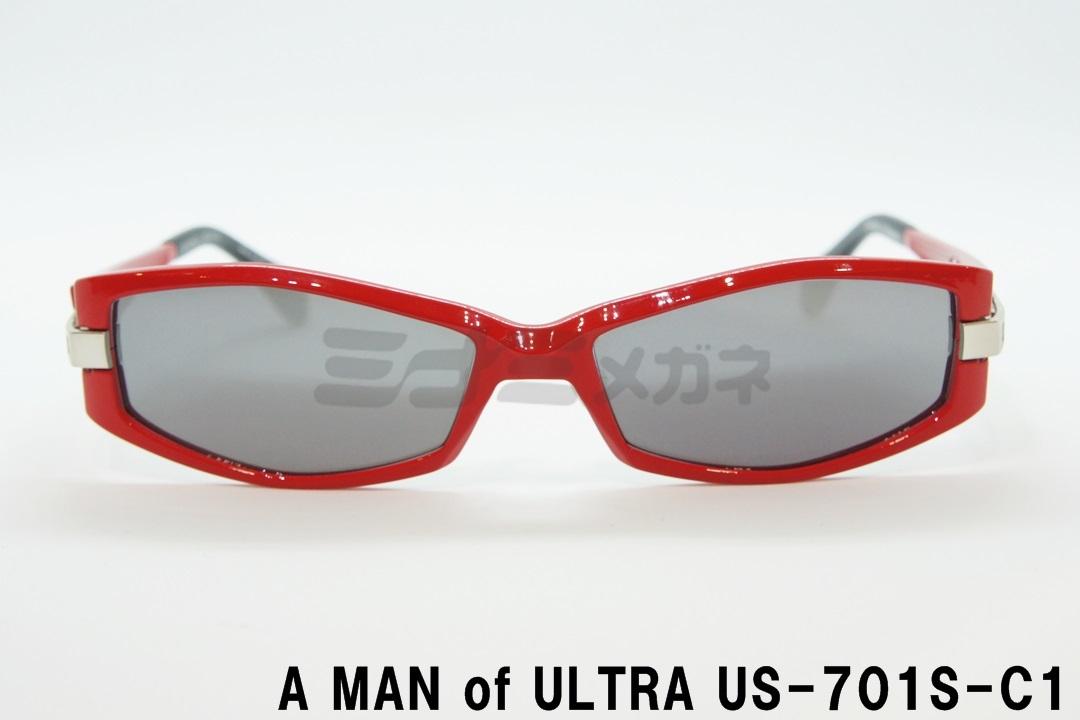 【正規取扱】A MAN of ULTRA×BLACK ICE US-701S-C1、ウルトラセブン、サングラス、コラボ メガネ、ウルトラマン、フレーム、アイスラッガー、コラボ、変身、数量限定、円谷プロダクション