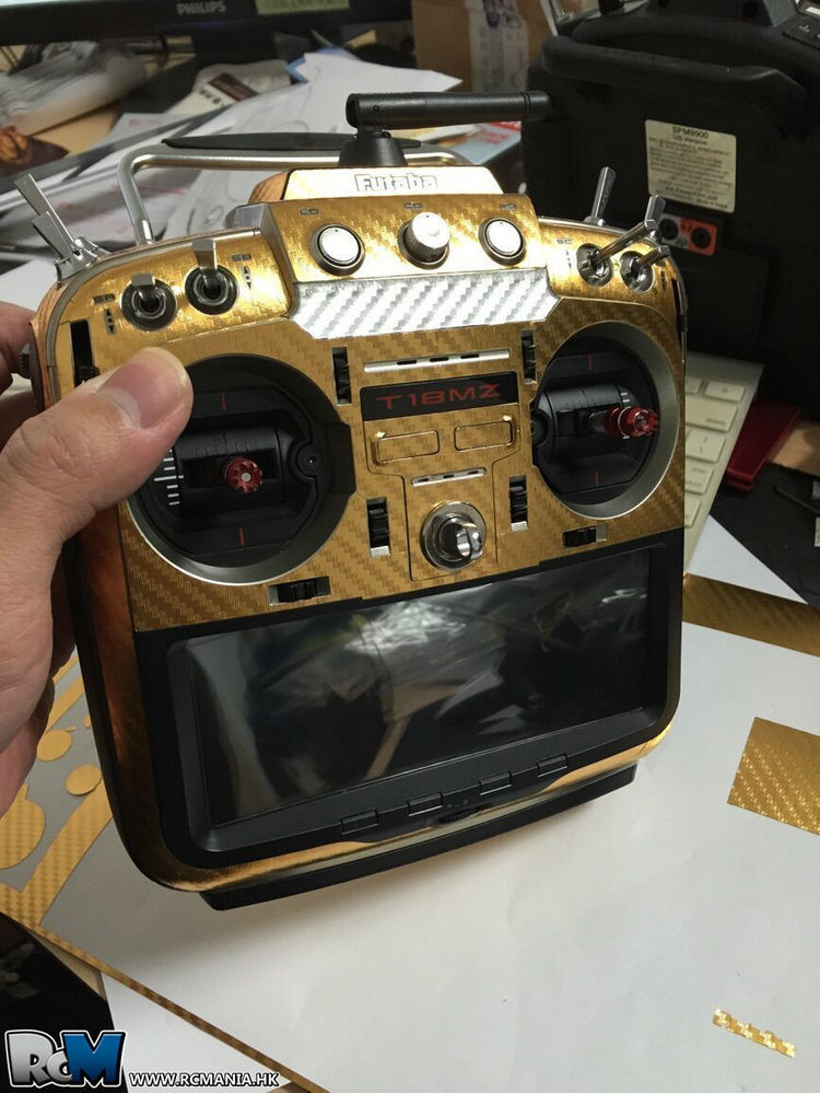 FUTABAプロポスキンシール ★18SZ(16SZも使用可)用   カーボン調  カラー/ゴールド
