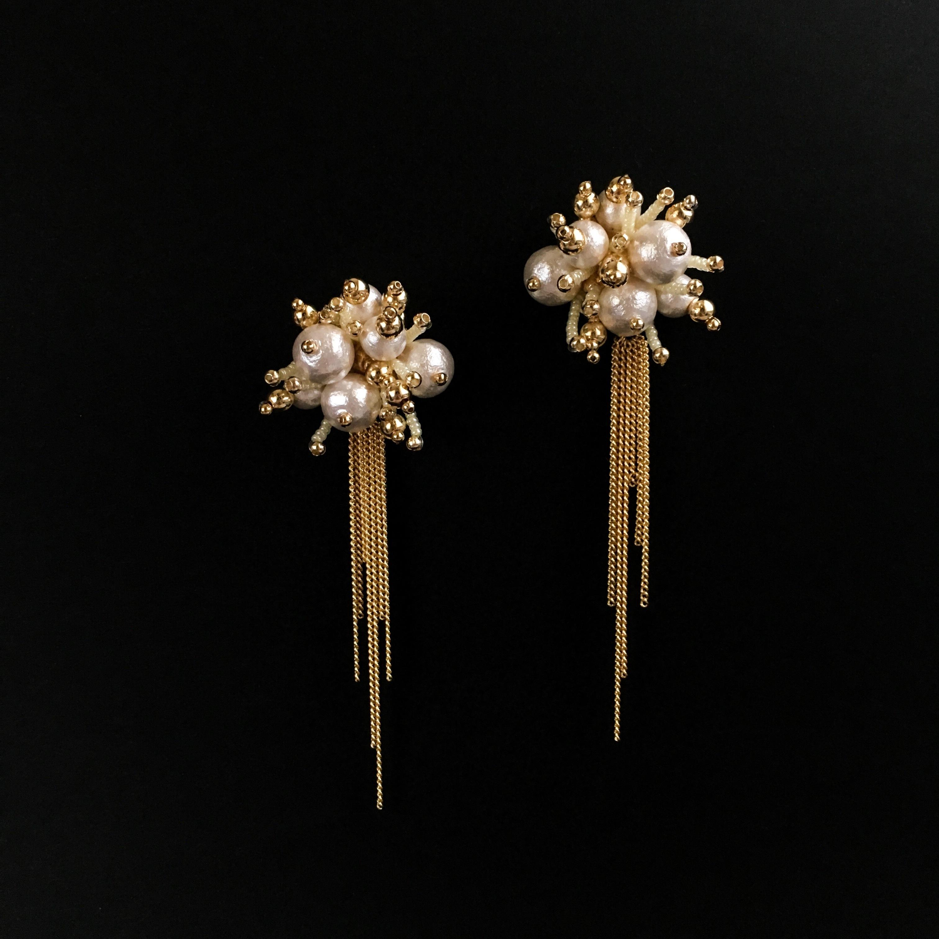 E-24 pierce/earring(gold×yellow)