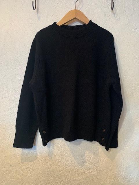 nachukara/シェットランドウールニット ブラック