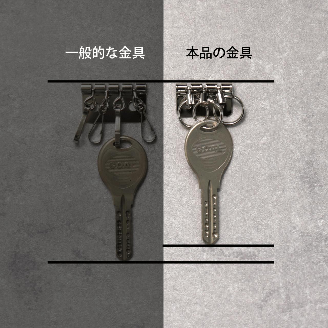 ギリギリぴったり鍵が入るコンパクトキーケース(本革)★ステッチ選べる★ネイビー