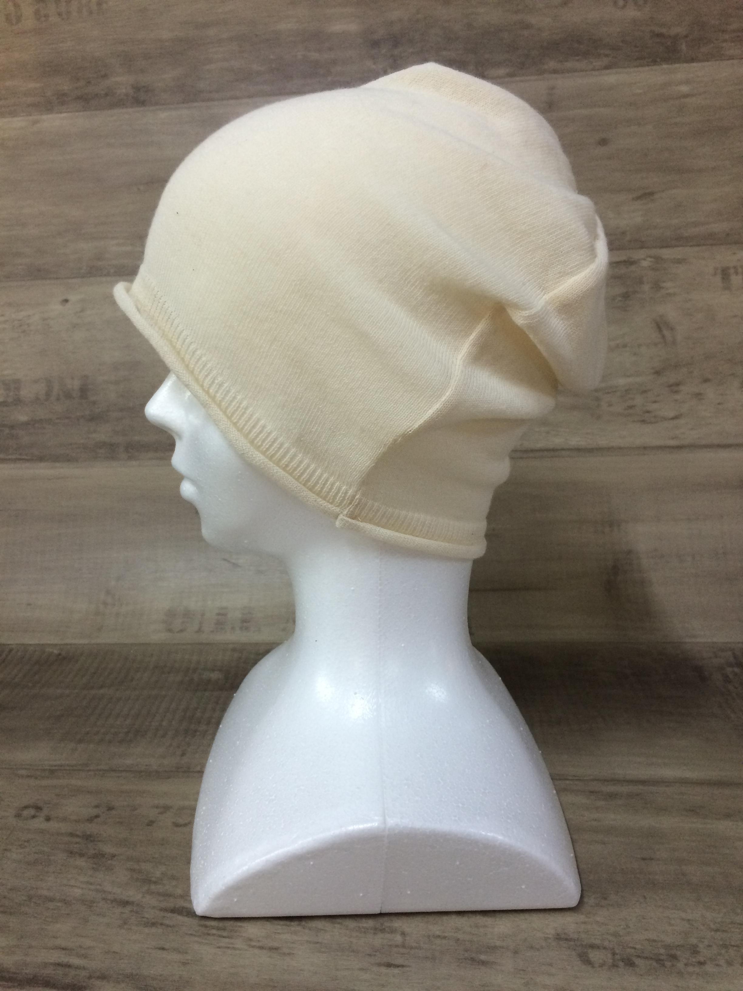 【送料無料】こころが軽くなるニット帽子amuamu|新潟の老舗ニットメーカーが考案した抗がん治療中の脱毛ストレスを軽減する機能性と豊富なデザイン NB-6058|フレンチバニラ <オーガニックコットン アウター>