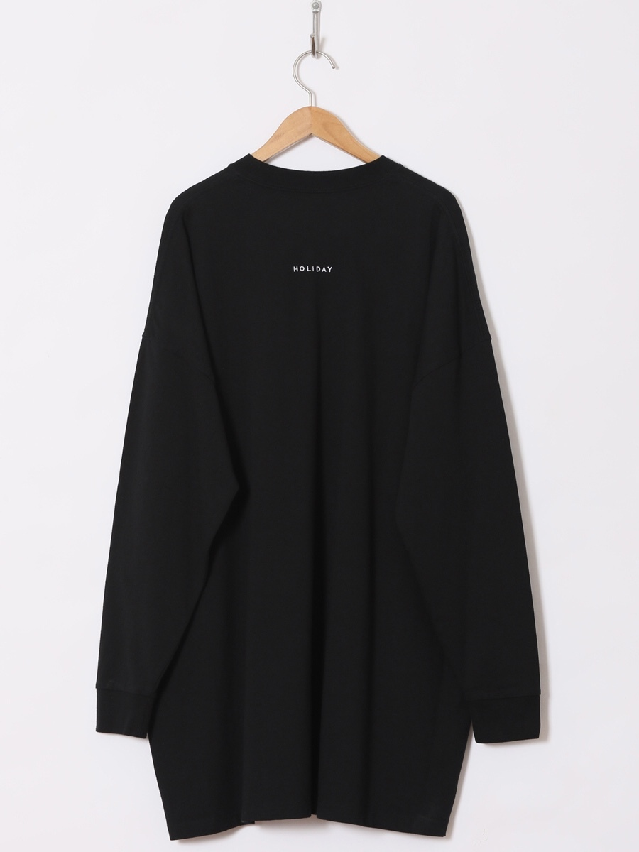 【HOLIDAY】SUPER FINE DRY POCKET BIG L/S T-SHIRT (BACK HOLIDAY)