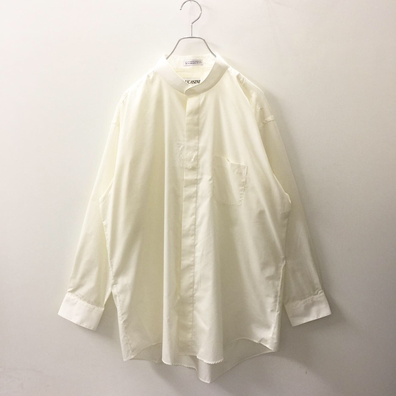 オーバー サイズ スタンド カラー シャツ