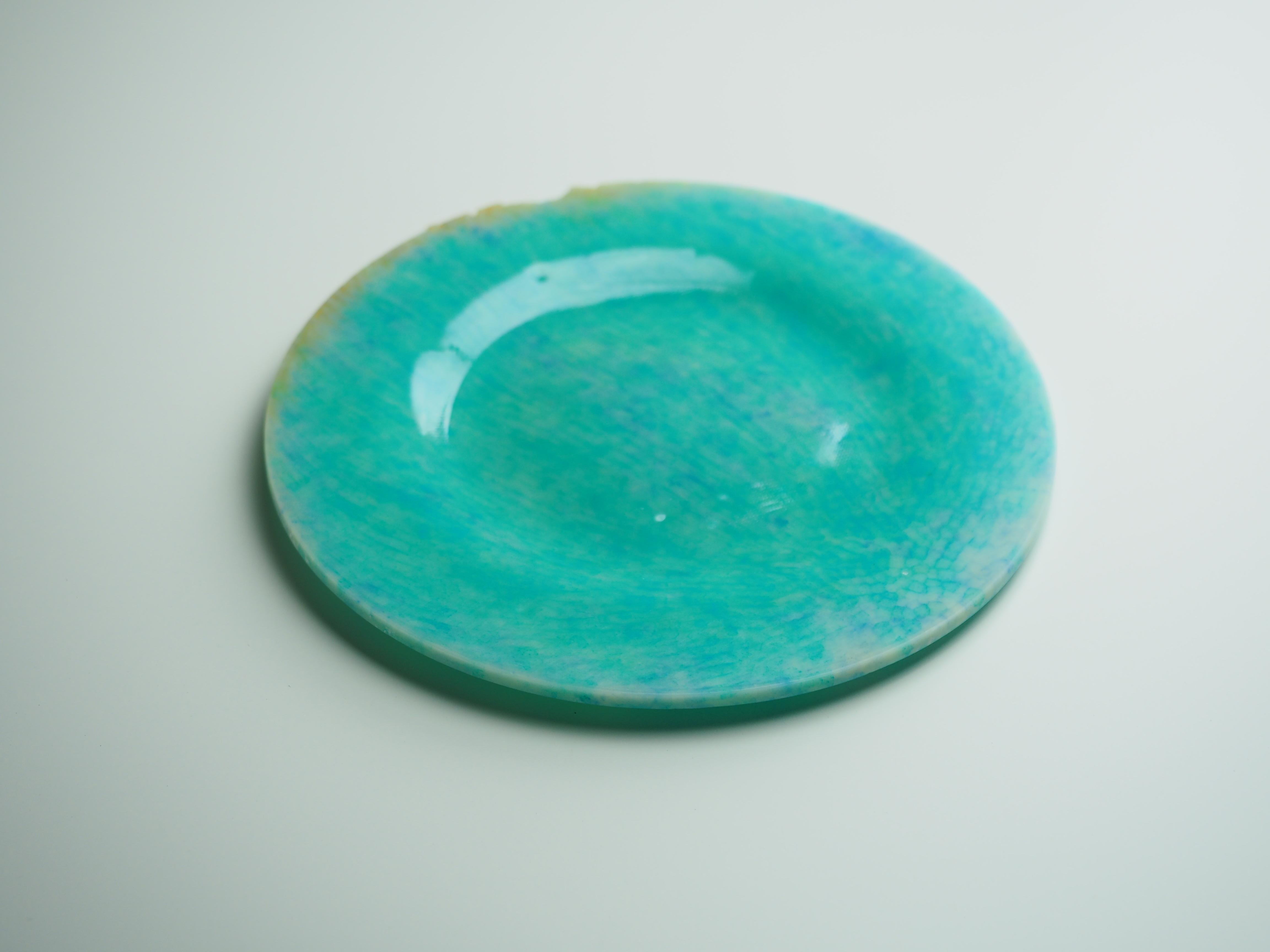 平皿-N(黄緑×水色)