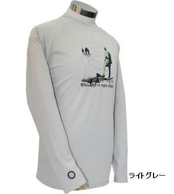 PE-701M秋冬メンズロングラグランスリーブTシャツ(ライトグレー)
