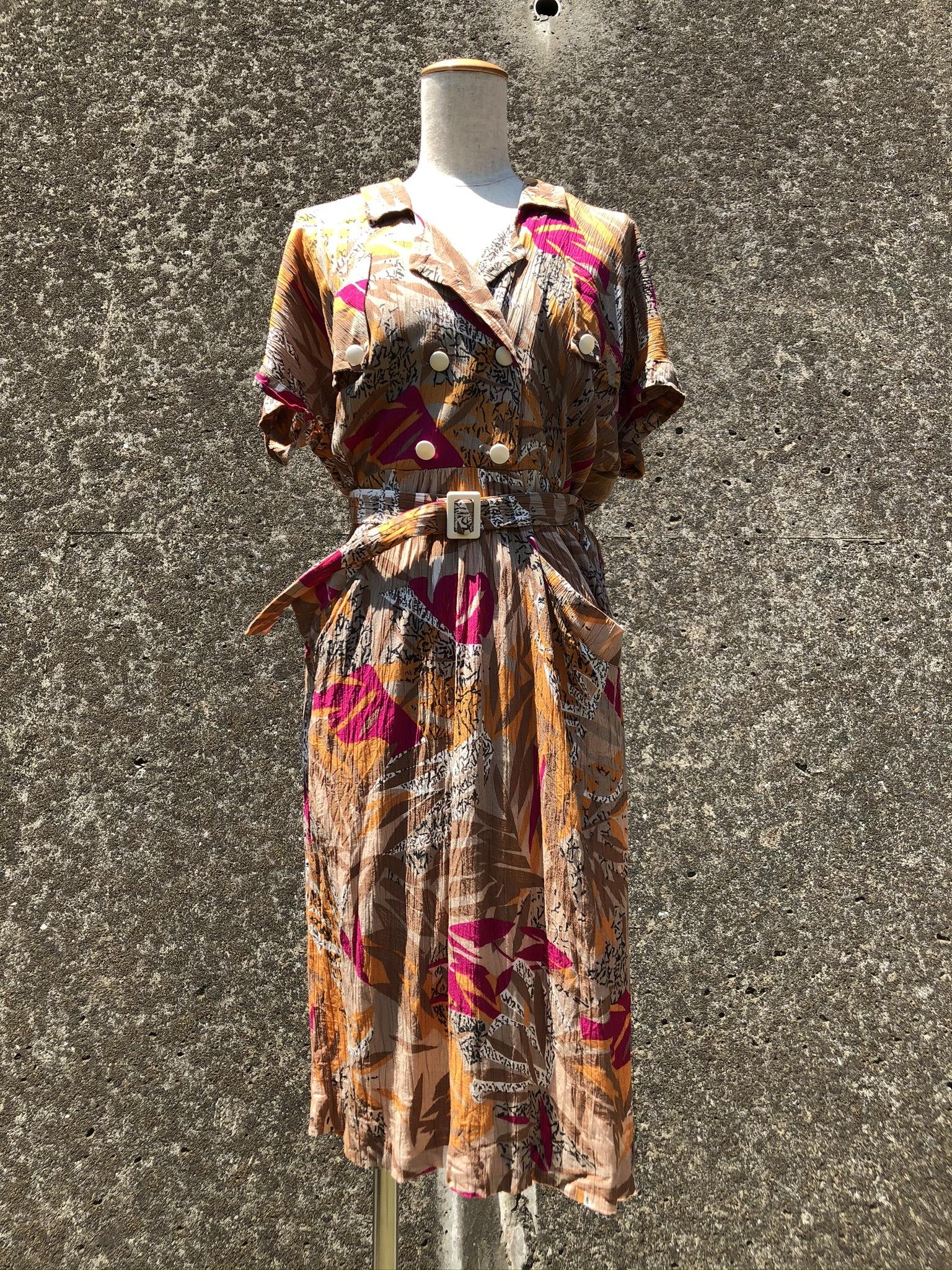 safari half sleeve dress