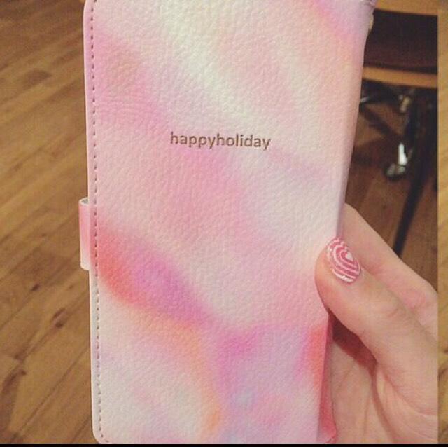 ピンク大理石手帳型