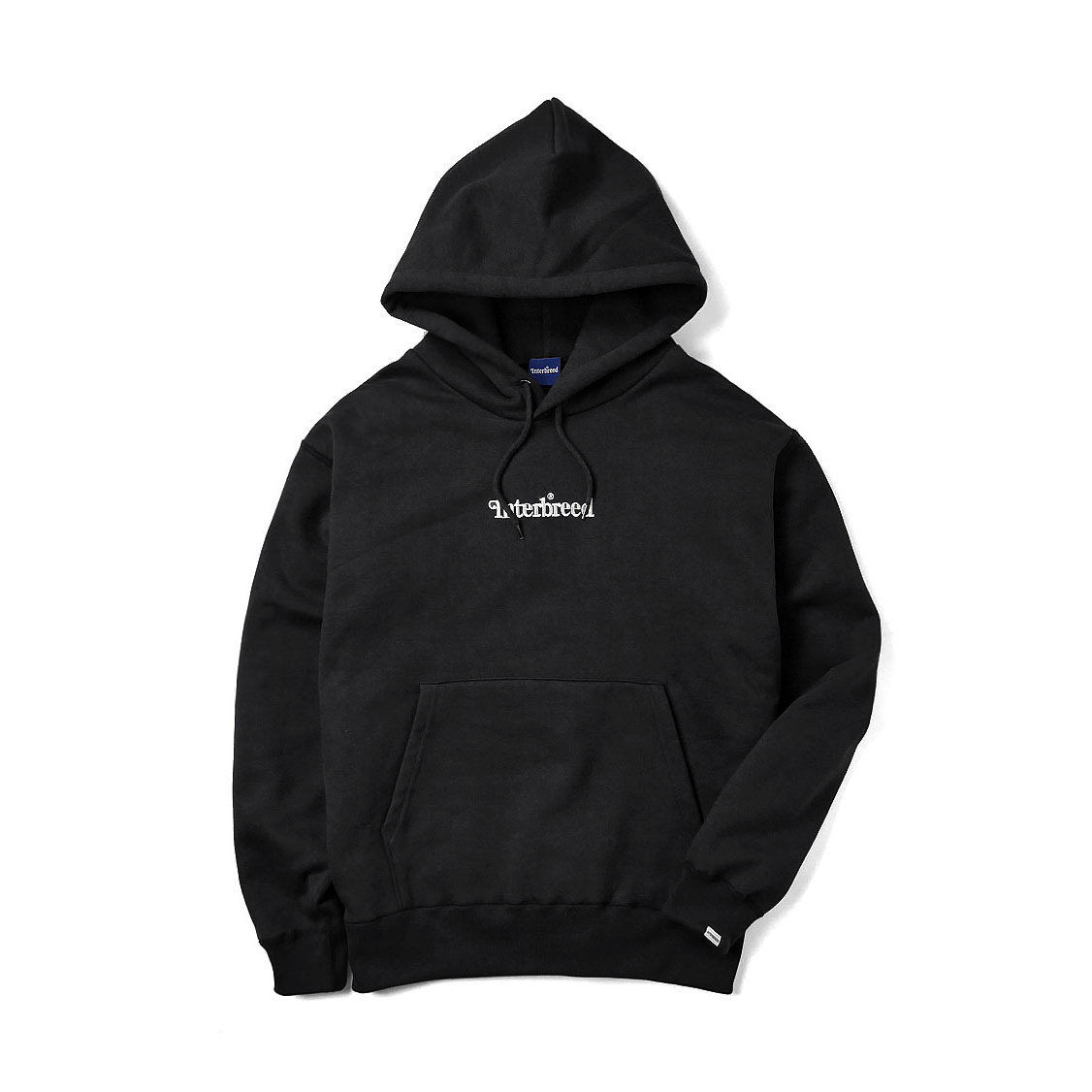 INTERBREED Archive Logo Pullover Hoodie BLACK