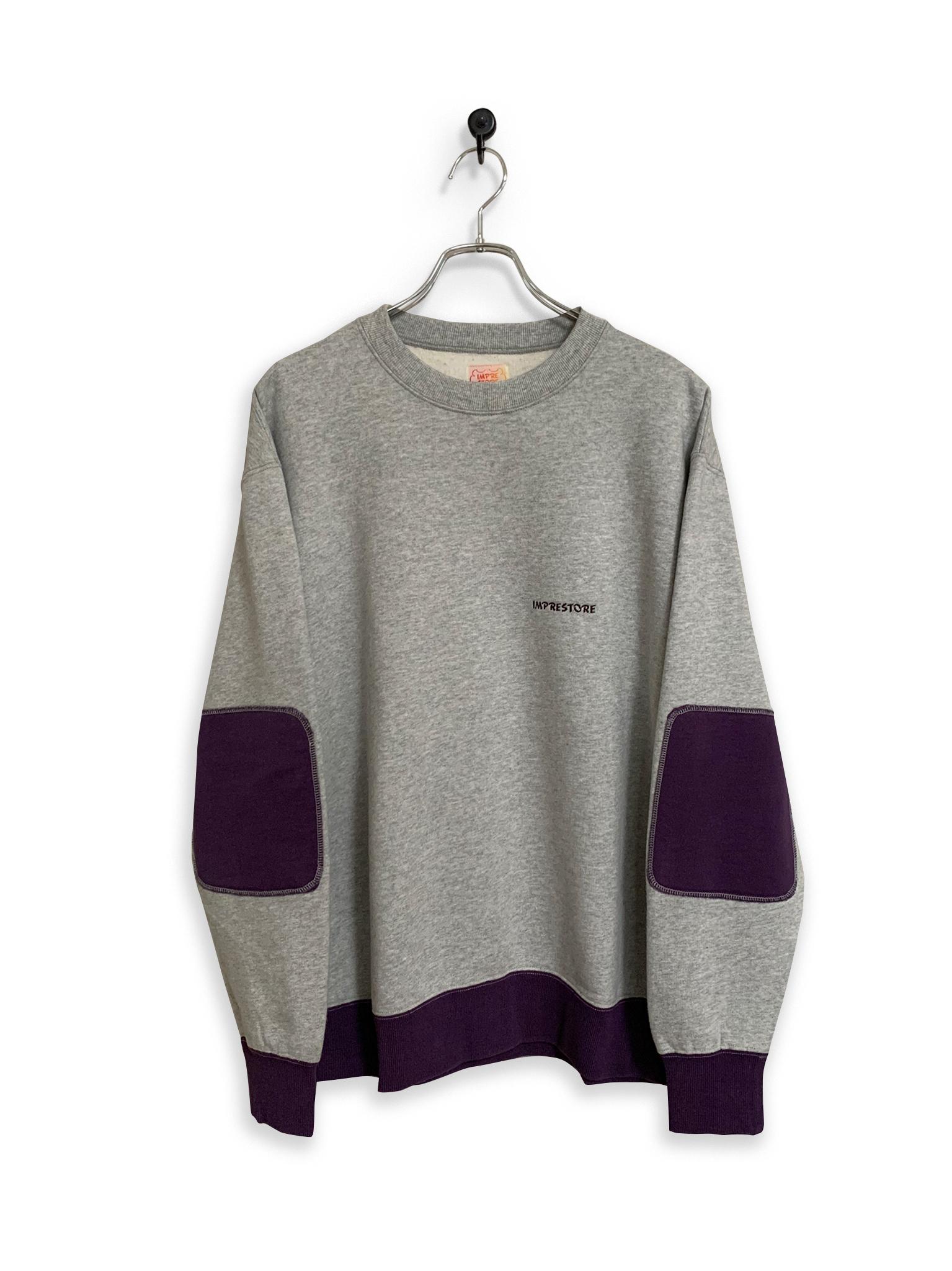 Original Sweatshirt / 2tone / gray × purple
