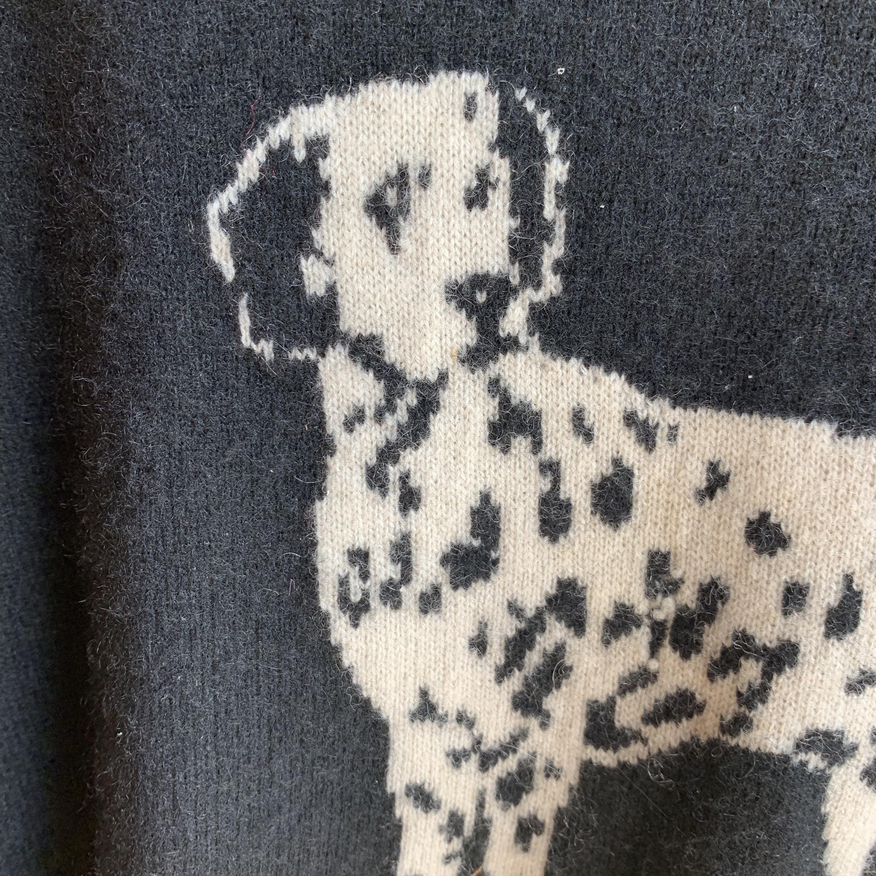 vintage Dalmatian cashmere knit sweater