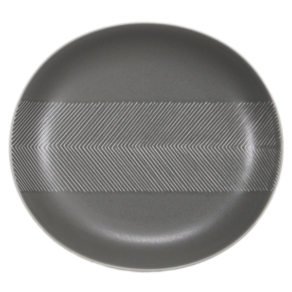 BIRDS' WORDS Tabletop Plate 24.5cm ash gray