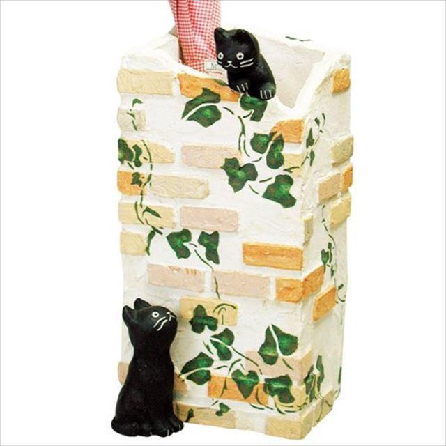 ガーデン雑貨 レジン製 黒猫 ラ・カンパーニュ 傘立て SCZ-0402-1000 セトクラフト - 画像2