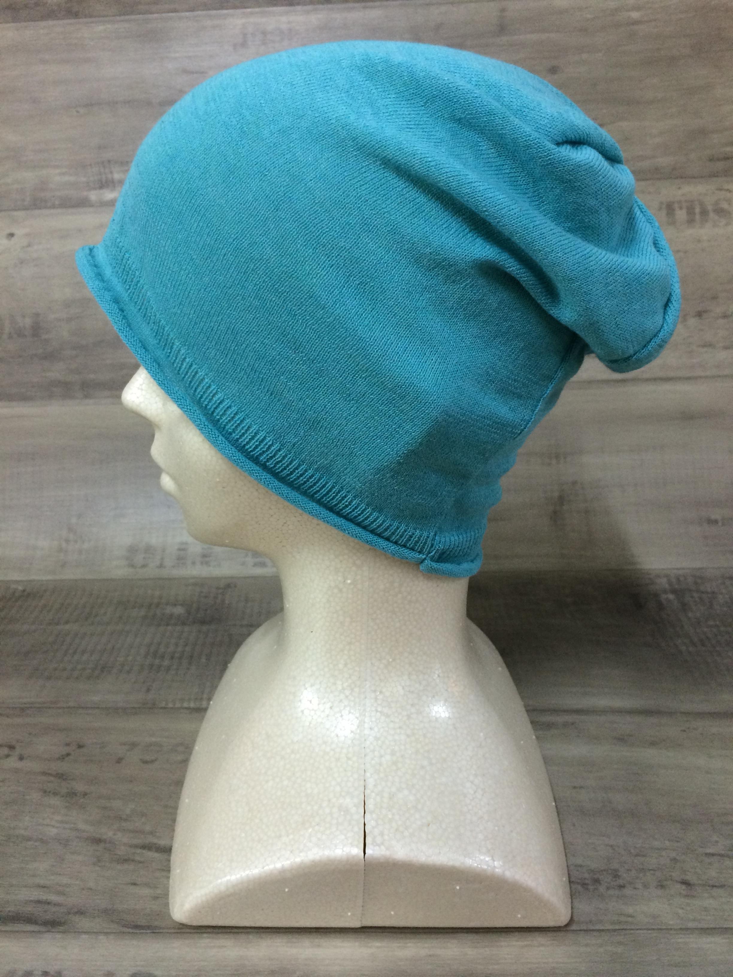 【送料無料】こころが軽くなるニット帽子amuamu|新潟の老舗ニットメーカーが考案した抗がん治療中の脱毛ストレスを軽減する機能性と豊富なデザイン NB-6058|ソーダ <オーガニックコットン アウター>